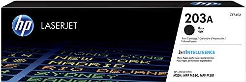 HP 203A CF540A Cartuccia Toner Originale, da 1400 Pagine, Compatibile con le Stampanti HP Color LaserJet Pro MFP Serie M250 e M280, Nero
