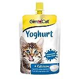 GimCat Yoghurt - Katzensnack aus echter laktosereduzierter Vollmilch mit Calcium für gesunde Knochen - 1 Beutel (1 x 150 g)