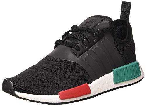 adidas NMD_R1, Scarpe da Ginnastica Uomo, Core Black/Glory Green/Lush Red, 42 2/3 EU