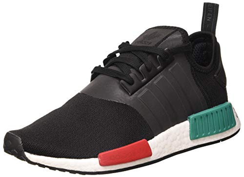 adidas NMD_r1, Zapatillas para Hombre, Core Black/Glory Green/Lush Red, 42 EU