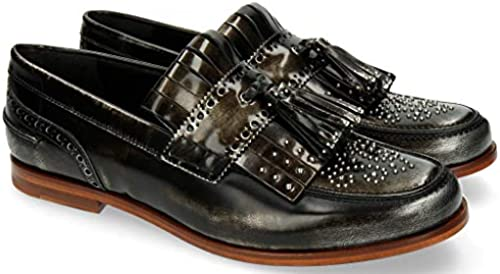 MELVIN & HAMILTON MH HAND MADE schuhe OF CLASS Pit 2 Brushoff Silber Rivets