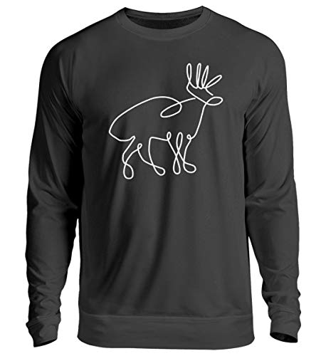 Chorchester hert tekening voor jagers en wilde fans - Unisex trui