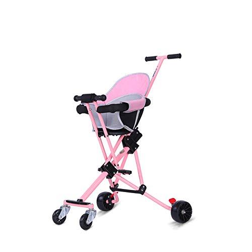 ANGEL Triciclo Trolley para niños, Bicicleta Plegable, Juguetes para cochecitos al Aire Libre, diseño de un Solo Paso, Peso Ligero, para Viajes en avión, para niños de 2-5 años