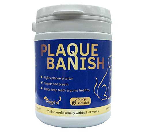 Plaque Banish 100% Natural Plaque Off & Tartar Remover For Dogs & Cats | Freshen Breath For Dogs & Cats & Pets | Prevent Gum Disease & Promote Dental Health | Prevent Plaque & Tartar Build Up | 180g