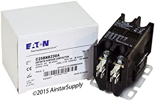Eaton/Cutler Hammer C25BNB230A Contactor, 2-Pole, 30 Amp, 120 VAC Coil Voltage