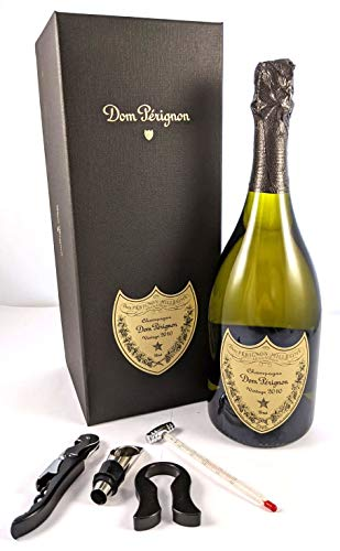 Photo of Dom Perignon Vintage Champagne 2010 in a gift box with four wine accessories, 1 x 750ml