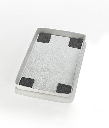 Mottez b511V Tappeto di ritenzione di acqua e anti-vibrazione per lavatrice a caricamento superiore, Grigio