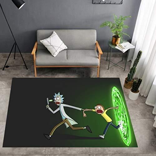 Carpet Cartoon Rectangular Rug Crystal Velvet 3D Printing And Dyeing Bedroom Living Room Swivel Chair Hanging Basket Wicker Chair Tent Children Crawling Mat