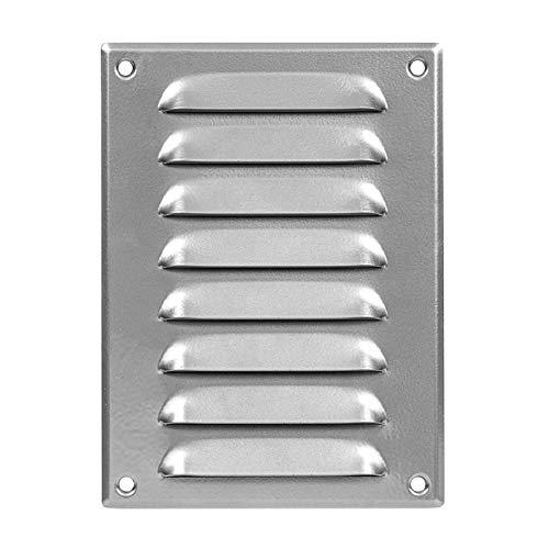 140 x 190 mm, cubierta de rejilla de ventilación gris de 15 x 17,8 cm, cubierta de ventilación, metal, con protección contra insectos