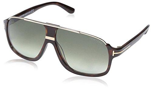 Tom Ford FT0335 56K 60 gafas de sol, Marrón (Avana/AltroRoviex Grad), 60.0 para Hombre