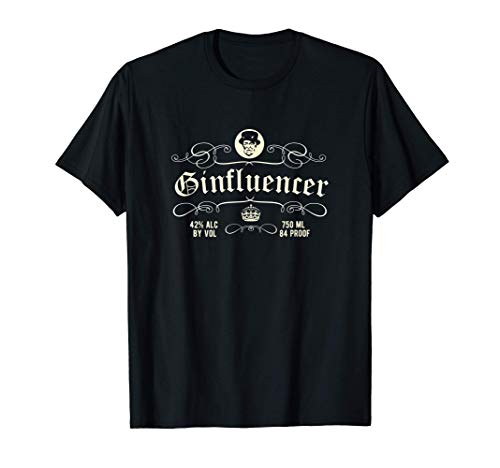 Gin Design Ginfluencer Design - das coole Original Gin T-Shirt