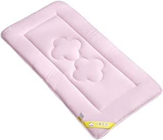 GX&XD Plush Soft Mattress Reversible Comfortable Futon Mattress Topper Breathable Heat Dissipation Foldable Cushion mats Kindergarten Newborn Baby Tatami Floor mat-Pink 60x120cm(24x47inch)