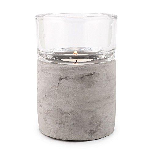 pajoma Teelichthalter ''Ambiente'' Gr. L aus Beton, H 11,9 x Durchmesser 8,3 cm