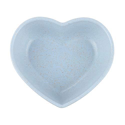 Multipurpose Mini keramische kruiden gerechten/voorgerecht borden, multi-kleur verscheidenheid vorm schotels kom sojasaus gerechten kit kruiden kleine kommen zijschotel boter ketchup Heart-shaped Blauw