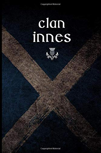 Clan Innes: Scottish Flag Clan Thistle - Blank Lined Journal with Soft Matte Cover