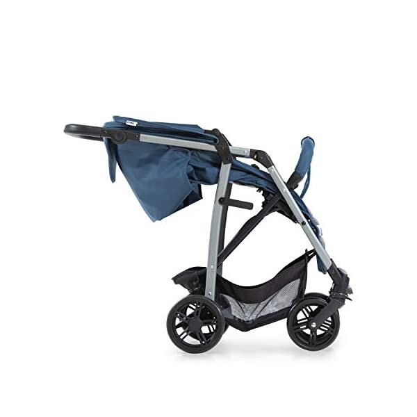 Hauck Rapid 4, 0 Months to 22 kg, Foldable, Compact, with one Hand, with Sleep Position, Height Adjustable Handle, Large Basket - denim/grey, Rapid 4, Up to 25 Kg Hauck Easy folding this pushchair is as easy to fold away as possible - the comfort stroller can be folded with one hand only within seconds, leaving one hand always free for your little ray of sunshine Long use this buggy can be used for a very long time. it is suitable from birth (also compatible with 2in1 carrycot or comfort fix infant car seat) up to a maximum of 22kg Comfortable back friendly push handle adjustable in height, the hood extendable; suspension, swivelling front wheels, soft padding, and large shopping basket 21
