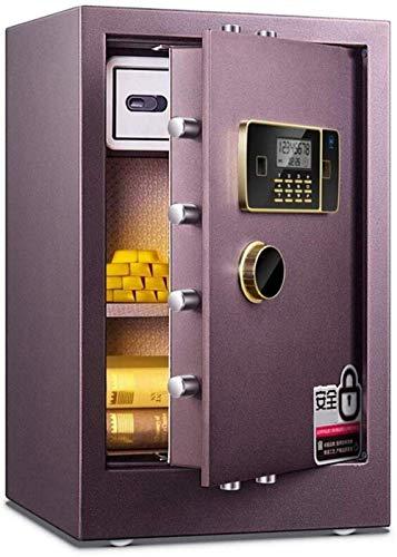 FACAIA Cajas Fuertes, Caja Fuerte Caja Fuerte Seguridad Digital Hogar con Teclado Botón de Cubierta Manual Adecuado para Negocios Familiares o Viajes Caja Fuerte de