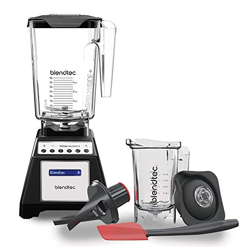 Blendtec Total Classic Original Blender - WildSide + Jar and Twister Jar BUNDLE - Professional-Grade Power - 6 Pre-programmed Cycles - 10-speeds - Black