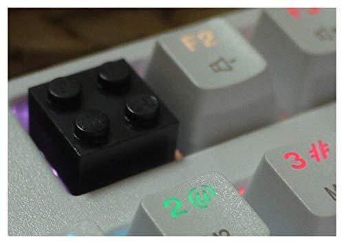 Keycap puller switch verwijderaar 1pc Keycap DIY Hars voor Mechanical Game Toetsenbord Wit Zwart Rood Blauw Roze Geel Kleur (Color : Black)