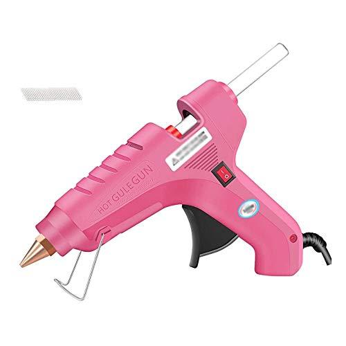 SMX Betere versie Hot lijmpistool Met 15pcs lijmsticks, 80W Hot Gun Pink snelle opwarming for de doe-Craft Projects en Binnenlandse Quick Repairs