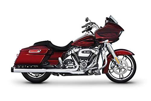 500-0182 Rinehart Racing DBX40 4' Chrome Slip-Ons with Black End Caps 2017-Newer Harley Touring