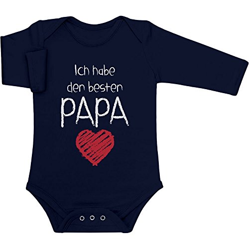 Ich Habe den besten Papa Geschenk für Vater Baby Langarm Body 12-18 Monate Marineblau
