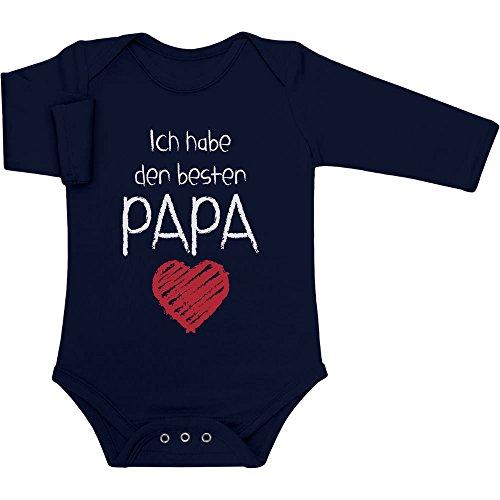Ich Habe den besten Papa Geschenk für Vater Baby Langarm Body 0-3 Monate Marineblau