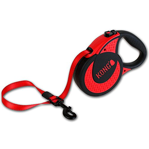 Alcott Kong Ultimate Retractable Dog Leash, Extra Large, Red, 16' Long