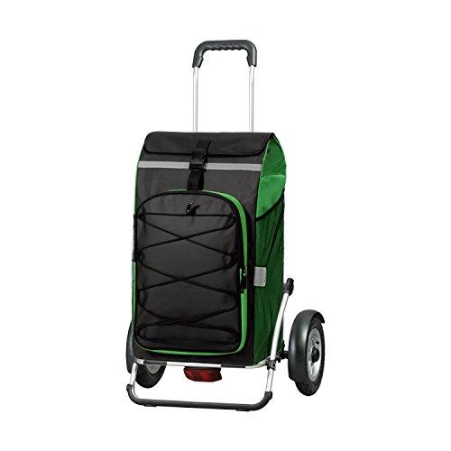 Andersen Shopper Royal Plus mit kugelgelagertem Luftrad 25 cm und 72 Liter Tasche Fado grün mit integriertem Kühlfach und Regencape