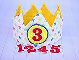 Corona bebé de tela para cumpleaños infantil con dibujos de estrellas, regalo cumpleaños