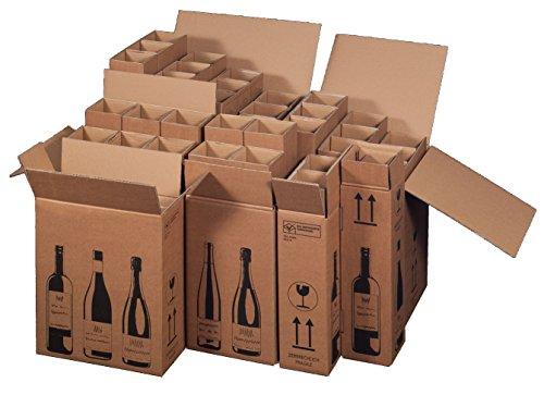 5x Flaschenversandkarton Weinkarton für 6 Weinflaschen (PTZ Zertifikat - DHL)