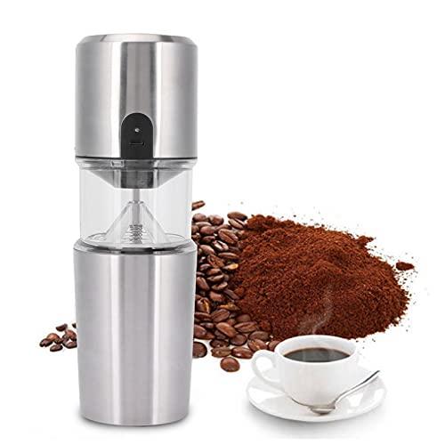 Molinillo de café inalámbrico eléctrico, molinillo de café con rebabas, cámara extraíble, cuchillas de acero inoxidable para goteo de especias y semillas