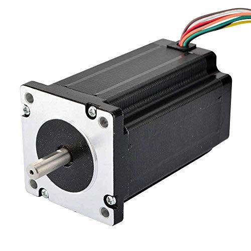 Printer Accessories Dual Shaft Nema 24 Stepper Motor 8-Lead 1.8 Degree 4Nm(566 oz.in) 60x100mm for 3D Printer CNC Robot/CNC Milling Machine 3D Printing Accessories