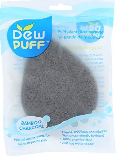 Dew Puff Konjac Sponge, Bamboo Charcoal