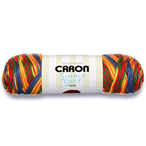Caron Simply Soft Paints Yarn (4) Medium Worsted Gauge 100% Acrylic - 5 oz - Crayon - Machine Wash & Dry
