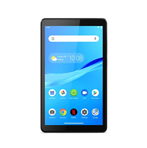 Lenovo Tab M7 17,8 cm (7 Zoll, 1024x600, SD, IPS, Touch) Tablet-PC (Quad-Core, 1GB RAM, 16 GB eMCP, Wi-Fi, Android 9) schwarz