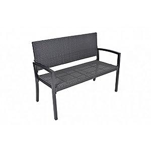 Parkbank Sanremo aus Aluminium / Kunststoff Farbe: Schwarz