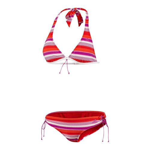 adidas Damen Bikini Stripes HN, top:vivid pink s13/vivid red s13/blaze orange s13 bottom :vivid pink s13/vivid red s13/blaze orange s13, 36, Z29849