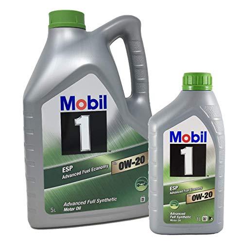 Mobil 1 Öl für Motor ESP x2 0W-20 Advanced Kraftstoffverbrauch, Pack 6 LTS