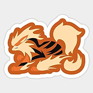 Flaming Arcanine Fire Type Vinyl Sticker