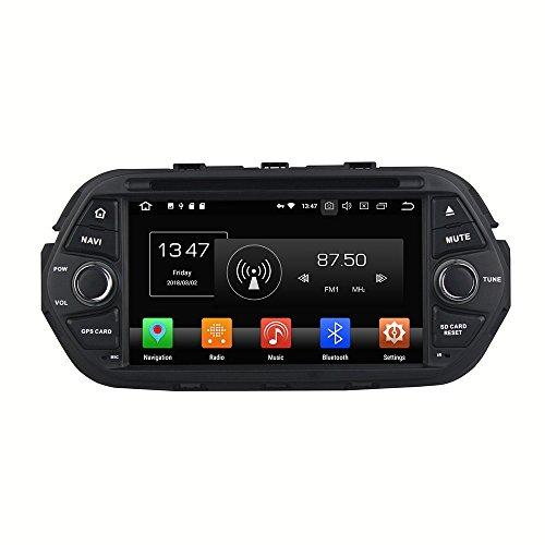 Kunfine Android 9.0 Octa Core lettore DVD multimediale di navigazione GPS Car stereo per Fiat Egea 2016 autoradio controllo del volante con 3 G WiFi Bluetooth libero SD mappa 17,8 cm