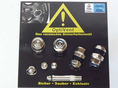 1x Set Optivent invisibile nascosto valvole 11,3mm argento metallo T/ÜV
