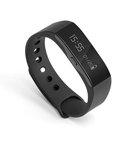 Technaxx Erwachsene Fitness Armband Trackfit TX-63 Fitnessarmband, schwarz, Gewicht/Maße: 21g / (L) 14–19,5 x (B) 1,7 x (H) 1,1cm