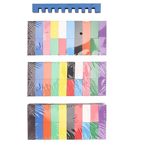 Juego de dominó de Madera de 300 Piezas, Colorido Juego de Bloques de construcción de dominó Juego Educativo de Juguete para niños