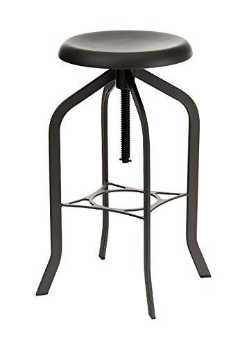 Wink design - Iowa - Officina Tabouret à vis - hauteur réglable - bois - gris
