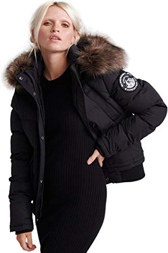 Superdry Damen Winterjacke Everest Ella schwarz 14 (L),42 EU,