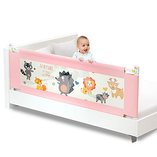 MAO ZE QU Barandilla de cuna Elevación vertical de 1,5 m Mesita de noche anticaída para niños valla de cama resistente a golpes para bebés cama de seguridad para niños cama a lo largo de la ba