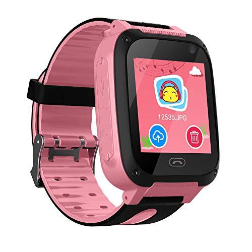 Smartwatch Kinder, Smartphone-Uhr mit GPS und SOS HD wasserdichter Outdoor-Aktivitätstracker für Jungen und Mädchen (Smartwatch G pink)