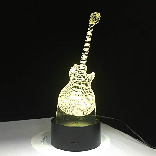 Guitarra eléctrica luz Colorida lámpara de Mesa Baby Sleep Night Light Music Touch Control Remoto niños Regalo góndolas