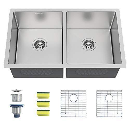 Stainless Steel Undermount Kitchen Sink Double Bowl